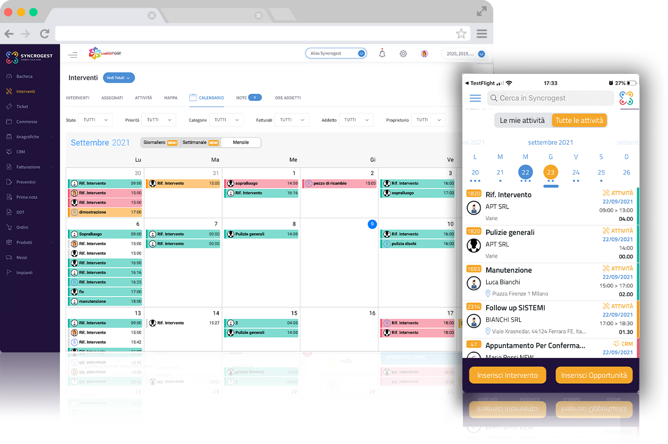 Software gestione attivita