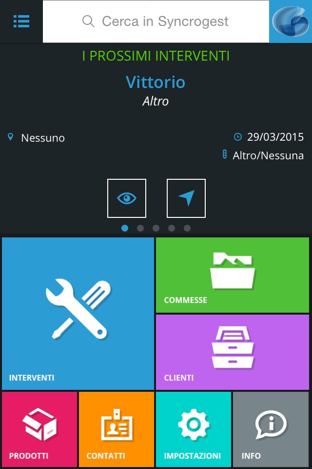 Dashboard Syncrogest 3.0