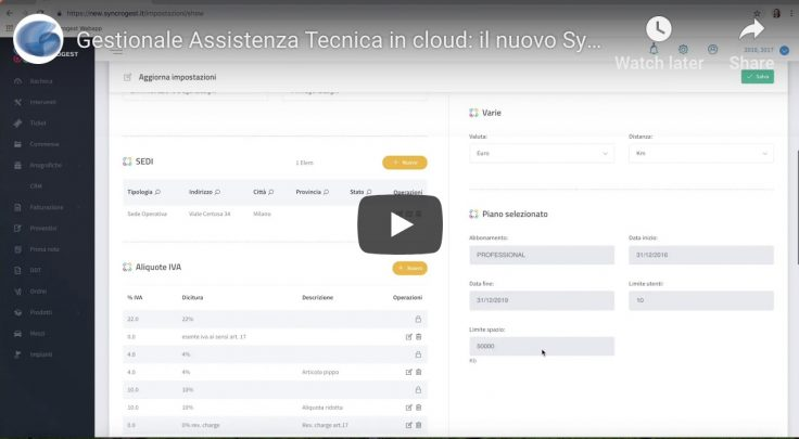 Assistenza Tecnica in cloud