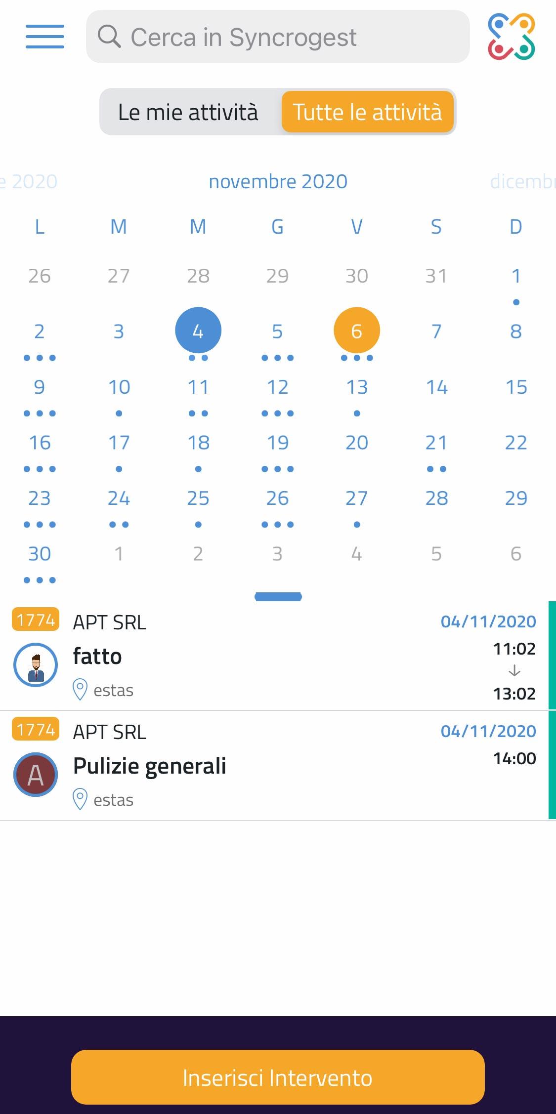 Switch veloce calendario in bacheca