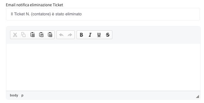 eliminazione ticket