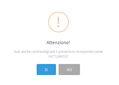 messaggio incorpora preventivi