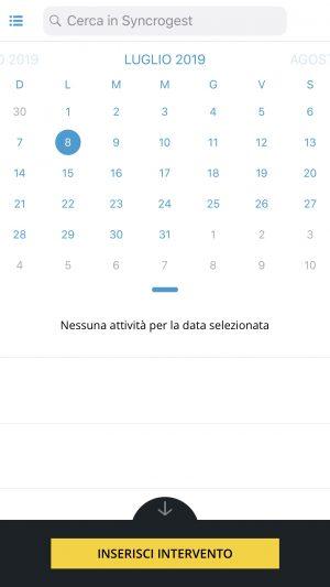 schermata calendario